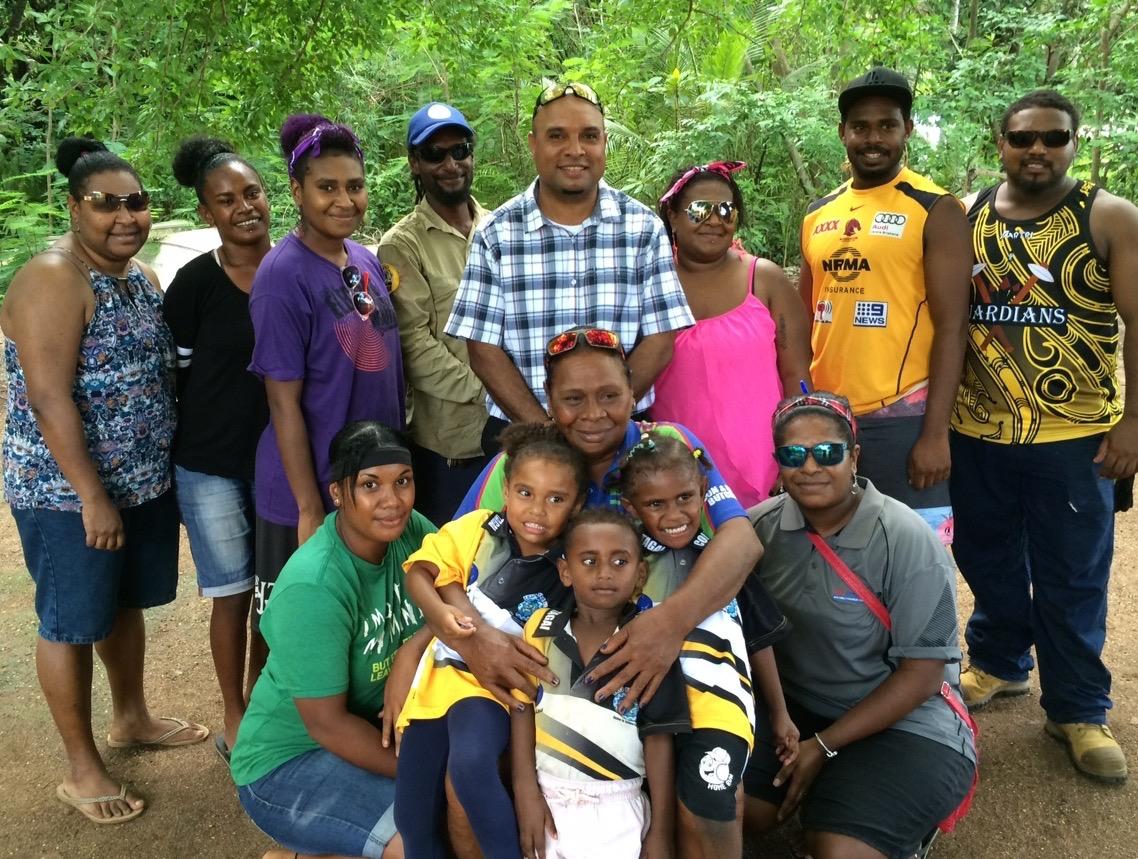 Erub Councillor and family